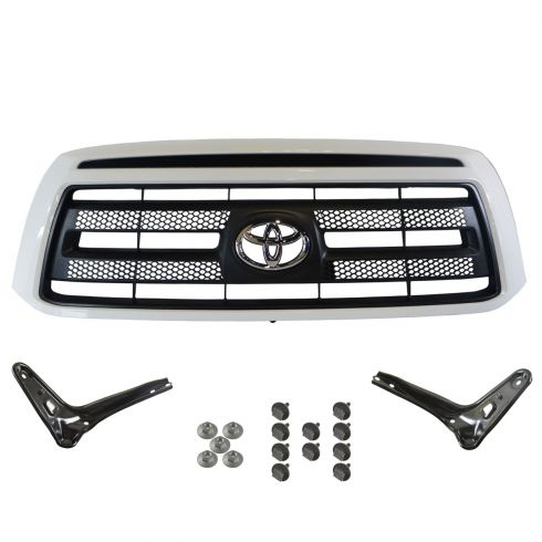07-09 Toyota Tundra Rock Warrior Style (Painted Super White Code: 040) Grille & Bracket Kit (Toyota)