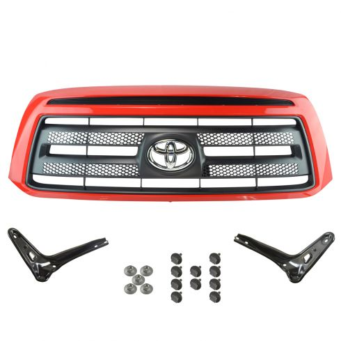 07-09 Toyota Tundra Rock Warrior Style (Painted Radiant Red 3L5) Grille & Bracket Kit (Toyota)