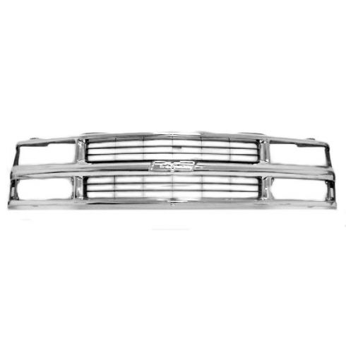 94-02 Chevy C/K Pickup Truck Chrome Grille for Composite Headlights