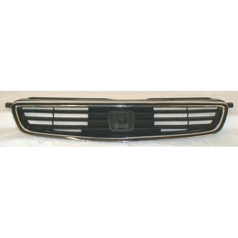 1996-98 Honda Civic 4 Door Sedan Chrome and Black Grill