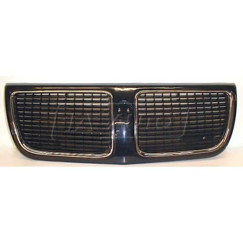 1989-91 Pontiac Grand Am Grill Gloss Black and Chrome