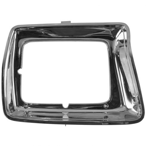 78-79 Ford Bronco Pickups Headlight Door Cover Chrome w/ Rect HL LH