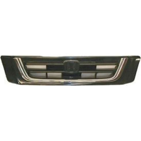 97-01 Honda CR-V Black Grille w/Chrome Trim