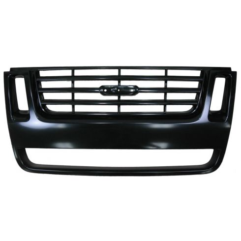 2007-10 Ford Explorer Black Grille 3 bar design (side nostrils) (2007-08 Iron Man Pkg)