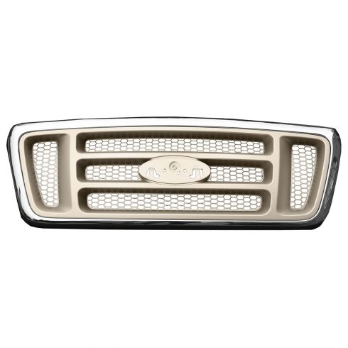 04-08 Ford F150 Bar Design Chrome & Champagne Grille (Super Duty Style)