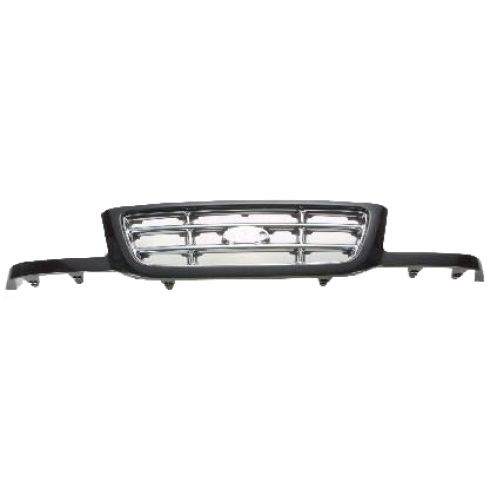 2001-03 Ford Ranger Grille Chrome Bars and Black Painted Surround