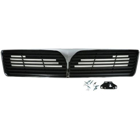 02-03 Mitsubishi Lancer (exc Evo) Chrome & Gray Upper Grille