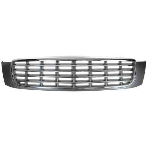 00-05 Cadillac Deville Chrome & Gray Grille (w/o Night Vision & w/Emblem on Hood)