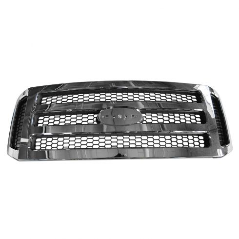 05 Ford Excursion; 05-07 F250SD F350SD Chrome w/Gray Honeycomb Grille