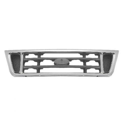 03-07 Ford Econoline Van (ex Diesel) Grille Chrome w/ Plat Inserts