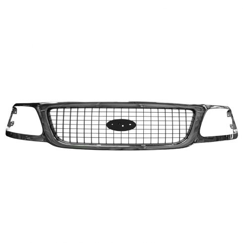 99-02 Ford Expedition Grille Chrome & Argent