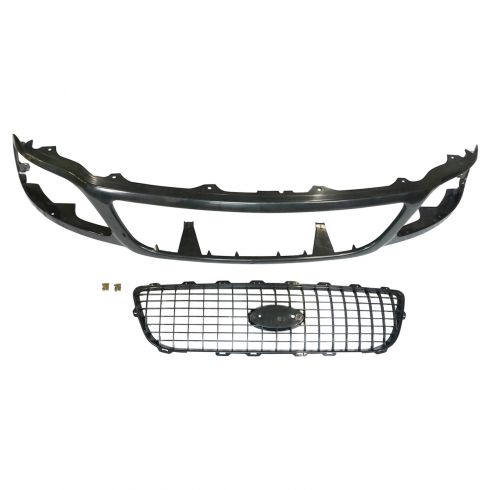 99-02 Ford Expedition Eddie Bauer Grille PTM & Black
