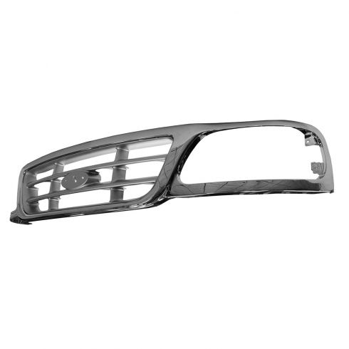 99-03 Ford F150; 04 Heritage; 99 F250LD Grille Crossbar Style Chrome & Argent