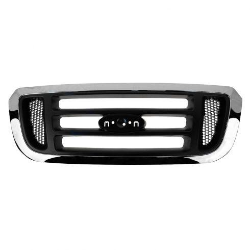 04-05 Ford Ranger Upper Grille Chrome w/ Argent Bars