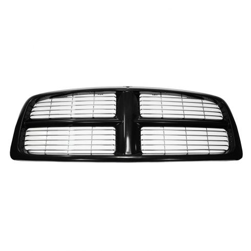 02-05 Dodge Ram 1500; 03-05 2500, 3500 Grille w/ Horizontal Bars Black (PTM)
