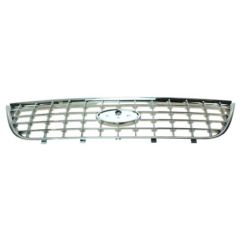 02-05 Ford Explorer Upper Grille All Chrome Performance Upgrade