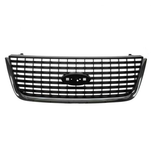 03-06 Ford Expedition Upper Grille Gray w/ Chrome Molding