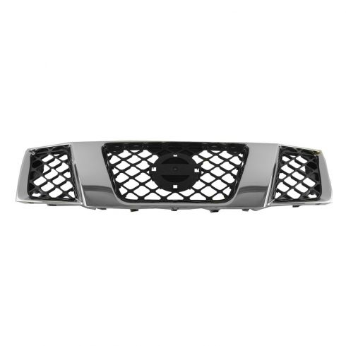 2005-07 Nissan Pathfinder; 05-08 Frontier Grille Black & Chrome