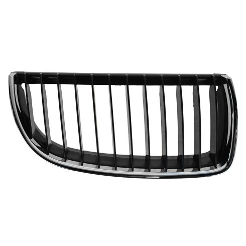 06 BMW 325i; 330i; 07-08 328i;335i Chrome & Blk Upper Grille RH