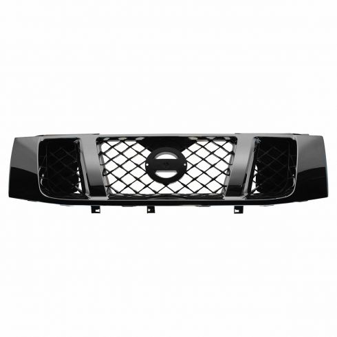 08-14 Nissan Titan Black & Chrome Honeycomb Grille Assembly