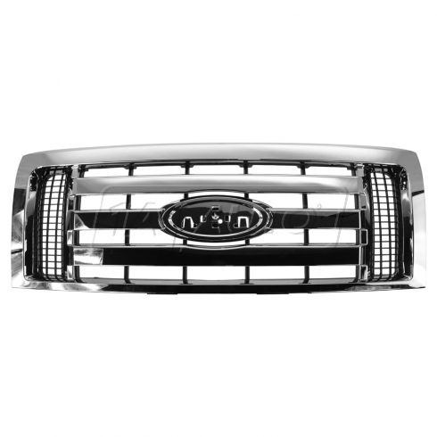09-12 Ford F150 XLT (3 Wide Bar Style) Chrome Grille