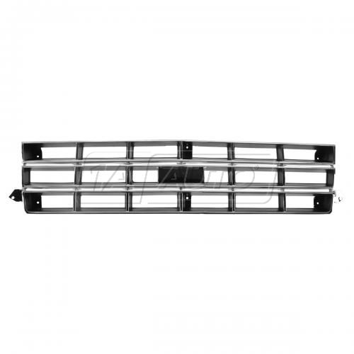82-90 Chevy S10 Blazer Grille Chrome and Black With Provision