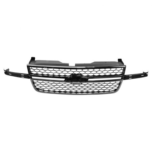 06-07 Silverado 1500 (exc SS); 05-07 2500, 3500 Classic Chrome & Gray Honeycomb Grille