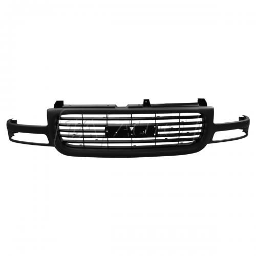 99-02 GMC Sierra 1500-3500; 00-06 Yukon; Yukon XL Grille Gray w/ Black Bars