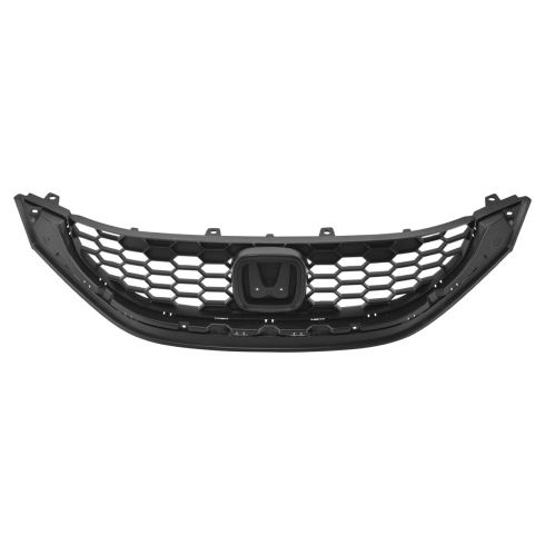 13-15 Honda Civic Sedan Front Upper Textured Black Grille