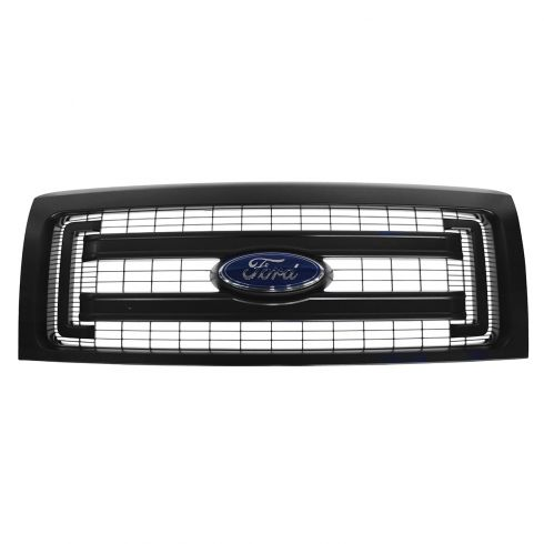 13-14 Ford F150 XL Textured Black 2 Bar Grille w/