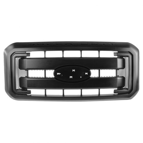 11-15 Ford F250SD-F550SD XL ~SUPER DUTY~ Logoed 2 Bar Textured Black Grille (w/o Emblem) (Ford)