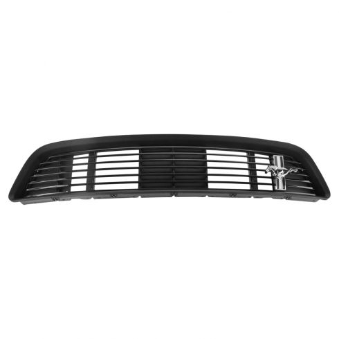 13-14 Ford Mustang California Special Gloss Black Billet Upper Grille w/~PONY~ Emblem (Ford)