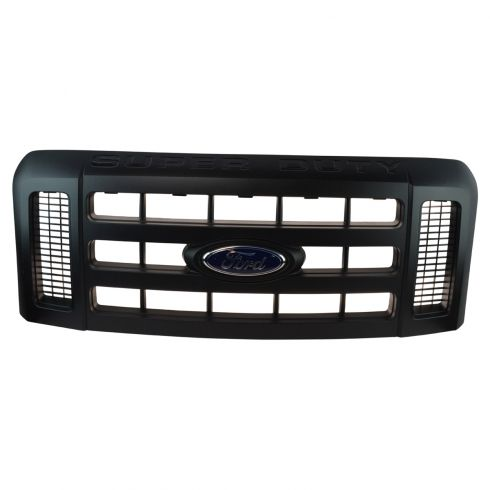 08-10 Ford F250SD-F550SD ~SUPER DUTY~ Logoed Textured Black Grille w/Ford Emblem (Ford)