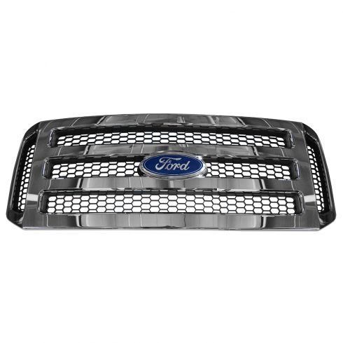 05-07 Ford F250SD-F550SD Honeycomb w/Chrome Bars Grille (FORD)