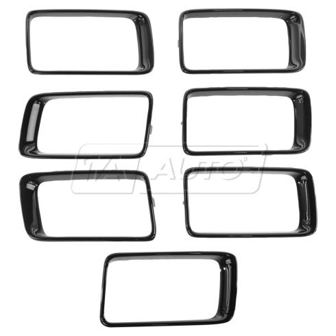 15-16 Jeep Grand Cherokee Gloss Black Trim Ring Grille Inserts (Set of 7) (Mopar)
