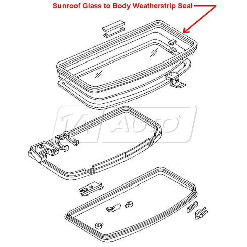 1979-93 Ford Mustang Sunroof Panel Body to Roof Weatherstrip Seal (OE FORD)
