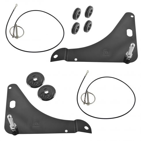 08-15 Dodge Challenger Black Stainless Hood Pin Kit (Mopar)