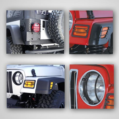 Euro Guard Light Kit, 97-06 Jeep Wrangler (TJ)