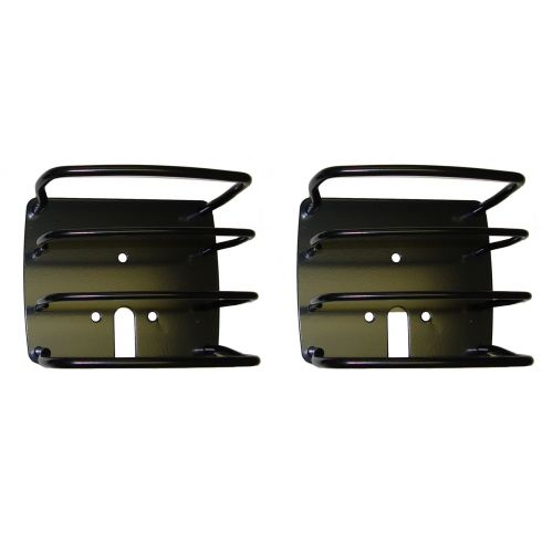 Euro Tail Light Guards, Black, 76-06 Jeep CJ and Wrangler