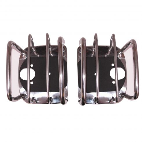 Tail Light Euro Guards, Stainless Steel, 76-06 Jeep CJ and Wrangler