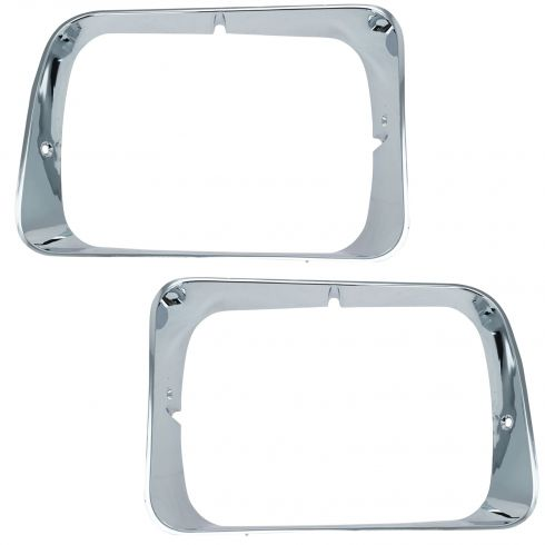 1992-93 Dodge D/W 150 250 350, Ramcharger Chrome Headlight Bezel PAIR