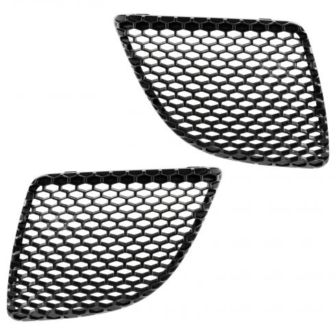 04-08 Pontiac Grand Prix Grille Insert Text Black Pair