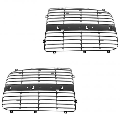 02-05 Dodge Ram 1500; 03-05 2500; 3500 Grille Insert Chrome Pair
