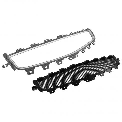 08 Chevy Malibu (New Body-12 LS LT (w/o FL); 08-12 Hybrid Center Grille Black w/ Chrm Molding