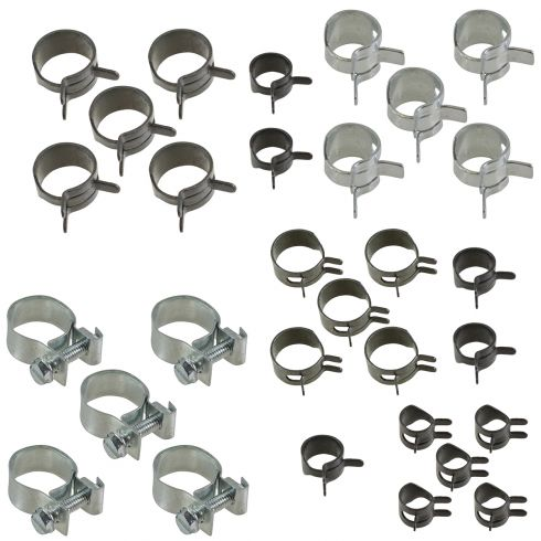 Fuel Injection, Minature, & Corbin Type Hose Clamp Value Pack w/Storage Tray (7 Skus - 35 Pieces)