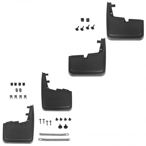 15-16 Ford F150 (w/o Lip Moldings) Custom Molded Front & Rear Splash Guard Mud Flap (Set of 4 (Ford)