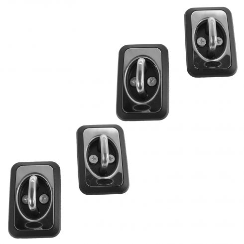 04-13 F150; Mark LT; 04-11 Rnger; 05-14 F250SD-F550SD Stainless Bed Hook Tie Down Set of 4 (Ford)