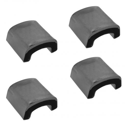 02-13 E550; 99-13 F350-F550; 05-13 F250SD; 88-97 FSD Rr Aux Leaf Spg Brkt Cushion Set of 4 (Ford)