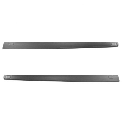 02-15 Ford F250 F350 Super Duty 7 Foot Bed Rail Cap Black Pair
