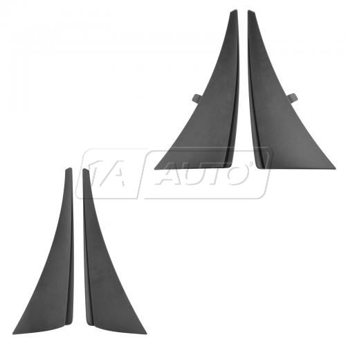 14-15 Chevy Corvette Stingray Molded Black Plastic Front & Rear Splash Guard Mud Flap (Set of 4)(GM)